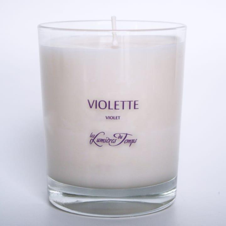 Bougie Végétale Violette - Les Lumières du Temps ANCIEN - Incenza