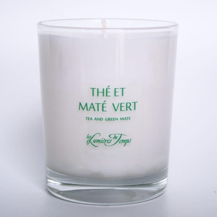 Bougie Végétale Thé et Maté Vert - Les Lumières du Temps - Incenza