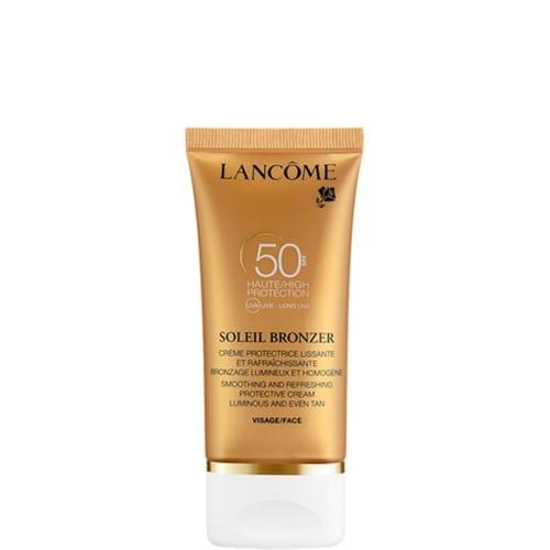 Soleil Bronzer Crème Protectrice Rafraîchissante Visage SPF 50