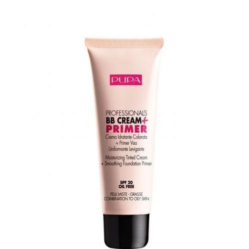 Professionals BB Cream + Primer PMG Crème Hydratante Teintée + Base de Maquillage Lissante et Unifiante SPF 20
