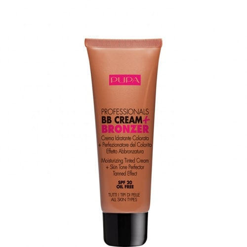 Professionals BB Cream + Bronzer Crème Hydratante Teintée + Perfectionneur de Teint Effet Bronzé Naturel SPF 20