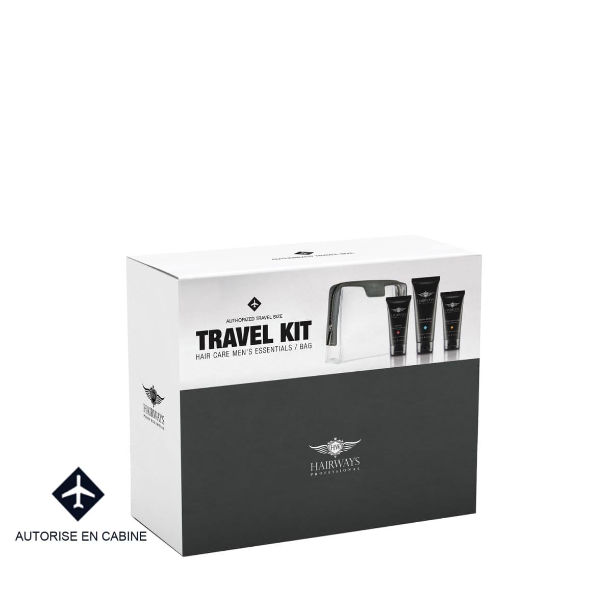 Hairways professional kit de voyage homme 3 produits incenza - Kit voyage homme ...