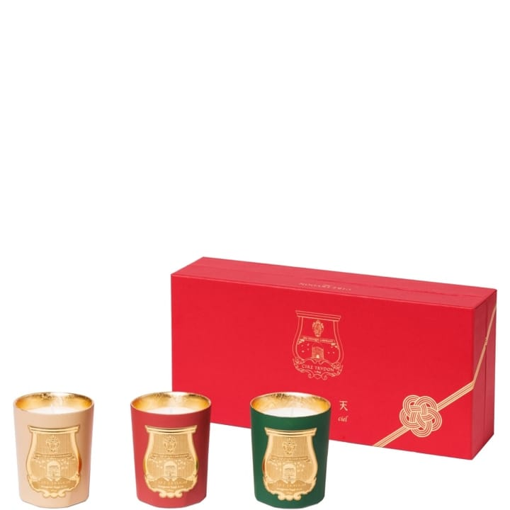 odeurs d 39 hiver coffret bougies parfum es cire trudon. Black Bedroom Furniture Sets. Home Design Ideas