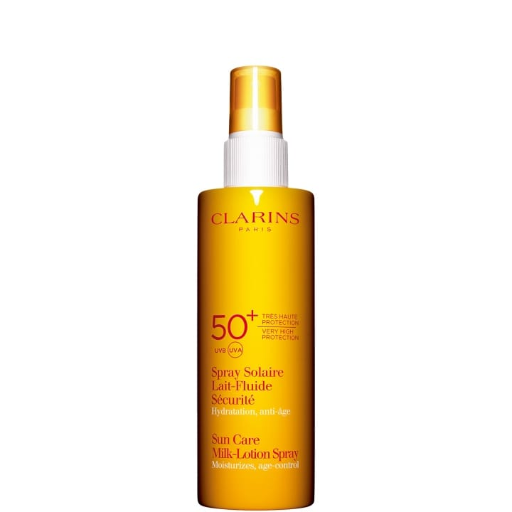 Spray Solaire Lait-Fluide Sécurité Très Haute Protection UVA/UVB 50+ - CLARINS - Incenza