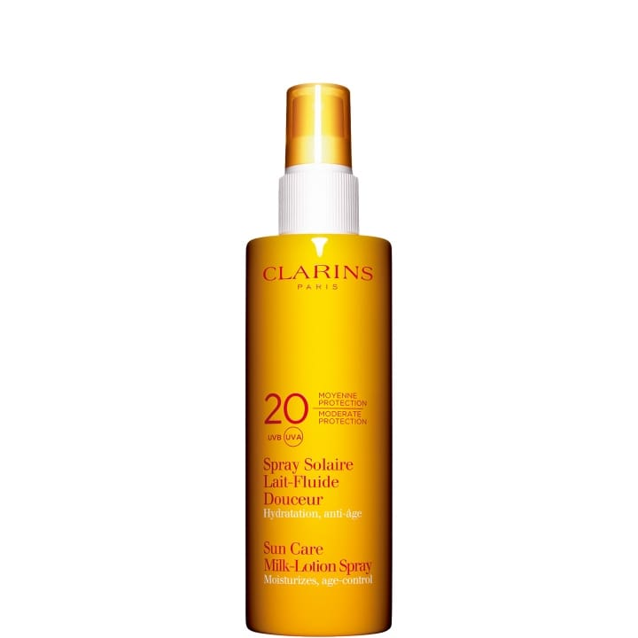 Spray Solaire Lait-Fluide Douceur Moyenne Protection UVA/UVB 20 - CLARINS - Incenza