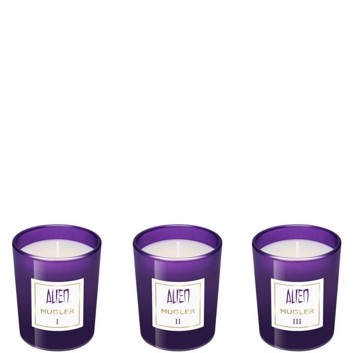 Alien Collection de Trois Mini Bougies Parfumées - MUGLER - Incenza