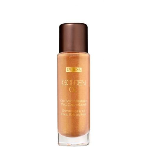 Golden Oil Huile Sèche Étincelante Visage, Corps, Cheveux