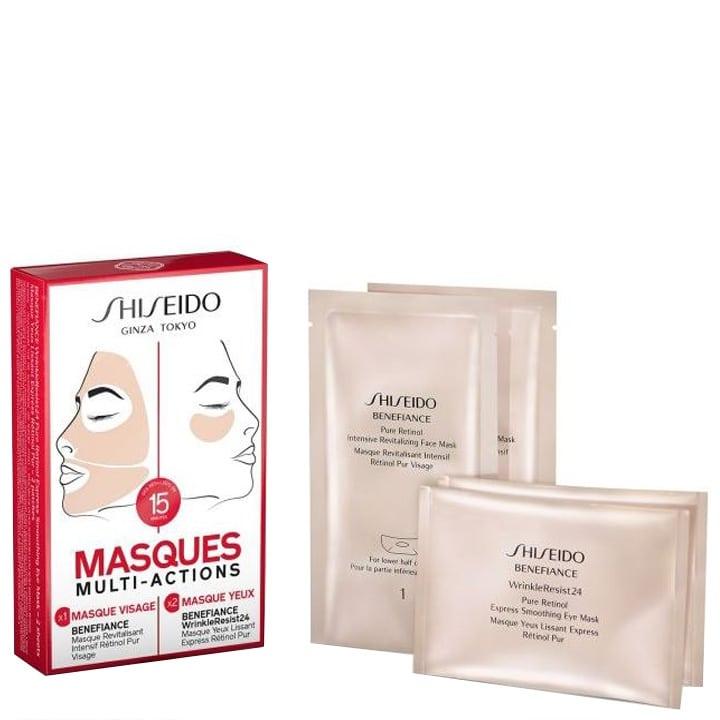 benefiance de shiseido - coffret masques multi-actions - incenza