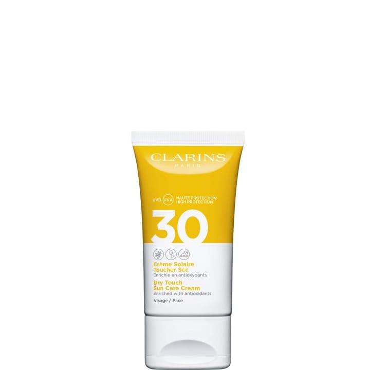 Crème Solaire Toucher Sec Visage UVA/UVB 30 Enrichie en Anti-oxydants - CLARINS - Incenza