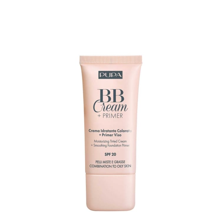BB Cream + Primer Peaux Mixtes et Grasses Crème Hydratante Teintée + Base de Pré-maquillage - Pupa - Incenza