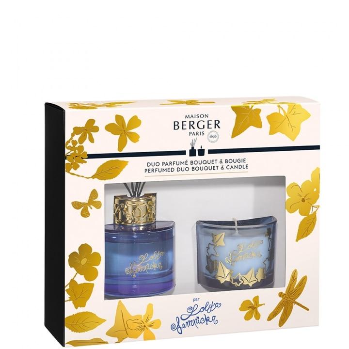 Duo mini Bouquet & Bougie Lolita Lempicka Parme Coffret Parfum d'intérieur - Maison Berger Paris - Incenza