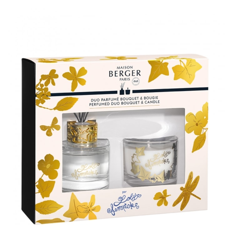 Duo mini Bouquet & Bougie Lolita Lempicka Transparent Coffret Parfum d'intérieur - Maison Berger Paris - Incenza