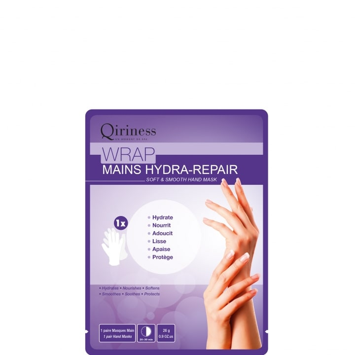 Body Cocoon Wrap Mains Hydra-Repair - Masque Mains Douces & Lisses - Qiriness - Incenza