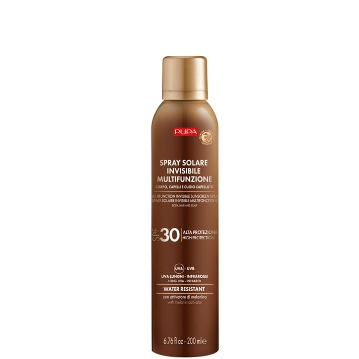 Spray Solaire Multifonction SPF 30 Protection complète contre les rayons UVB, UVA, UVA longs et infrarouges - Pupa - Incenza