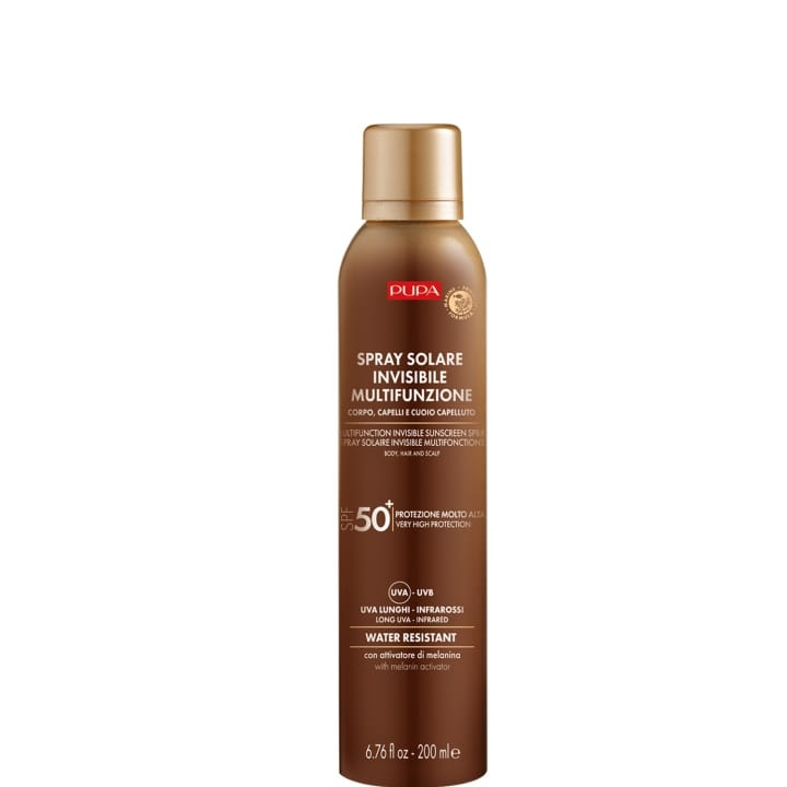 Spray Solaire Multifonction SPF 50   Protection complète contre les rayons UVB, UVA, UVA longs et infrarouges - Pupa - Incenza