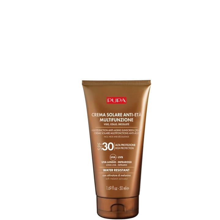 Crème Solaire Multifonction pour le Visage SPF 30 Protection complète contre les rayons UVB, UVA, UVA - Pupa - Incenza