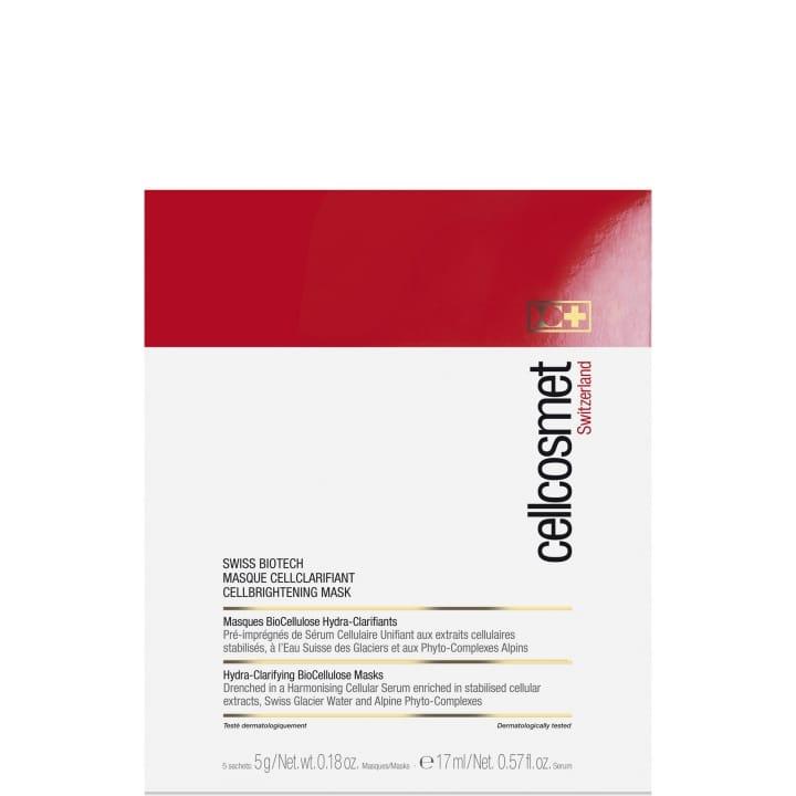 Swiss Biotech Masque CellClarifiant Masque BioCellulose Hydra-Clarifiant pré-imprégné de Sérum Cellulaire Unifiant - CELLCOSMET - Incenza