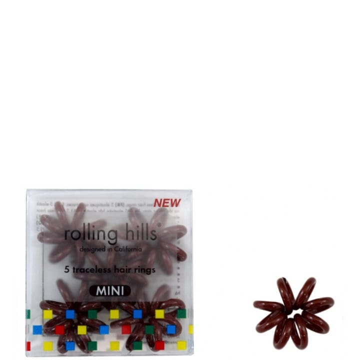 Rolling Hills 5 Élastiques Cheveux Sans Traces Mini Marron - Rolling Hills - Incenza