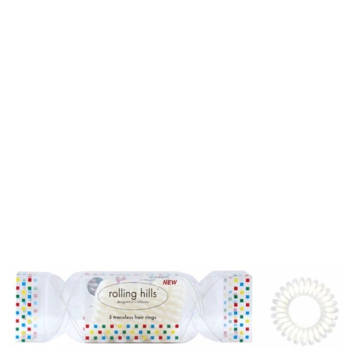 Rolling Hills 5 Élastiques Cheveux Sans Traces Cracker Blanc - Rolling Hills - Incenza