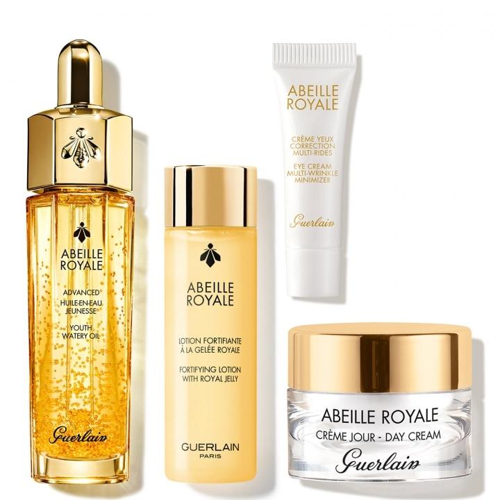 Abeille Royale Coffret Programme Anti-Âge : Huile, Lotion, Crème, Crème Yeux - GUERLAIN - Incenza